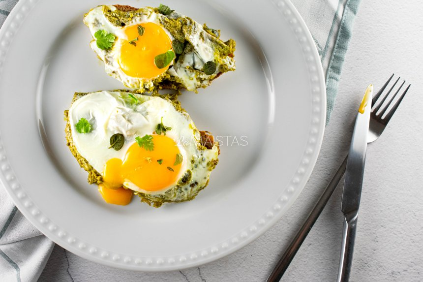 Pesto kiaušiniai - TIK TOK receptas