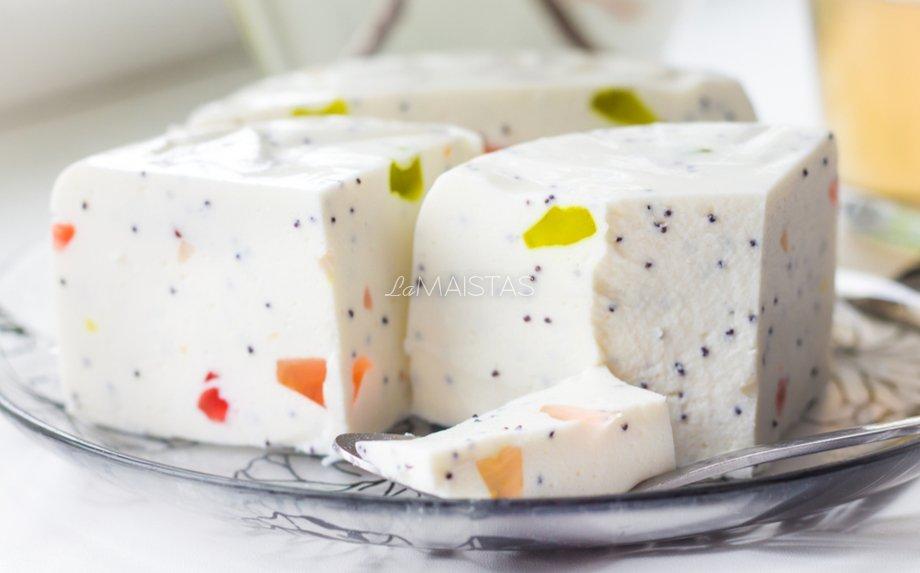 Desertinis varškės sūris su maskarpone ir želė