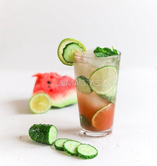 Gaivus arbūzo ir agurko kokteilis