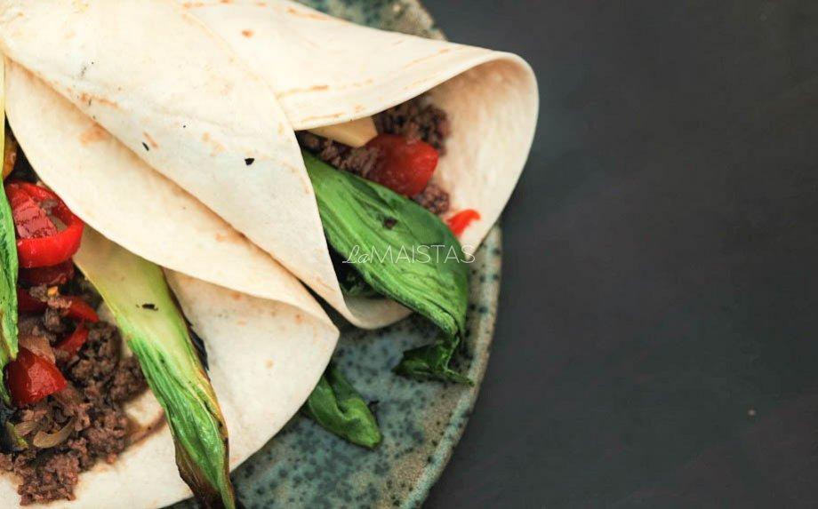 Tortilijos su jautiena ir daržovėmis pagal Gian Luca Demarco