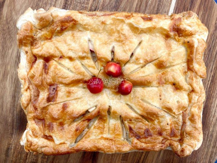 Pyragas su kiauliena ir obuoliais pagal Gian Luca Demarco