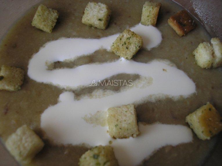 Kreminė baravykų sriuba