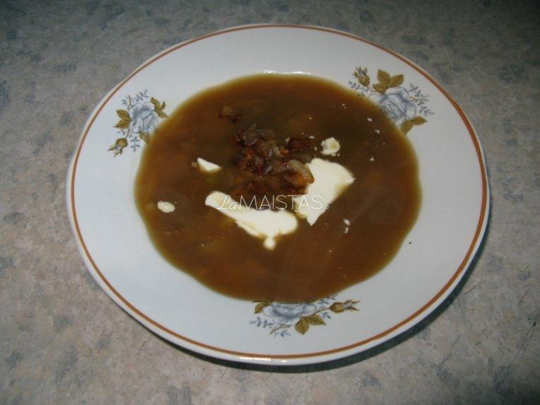 Džiovintų baravykų sriuba