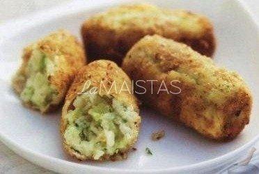 Gardūs bulvių ir porų kroketai