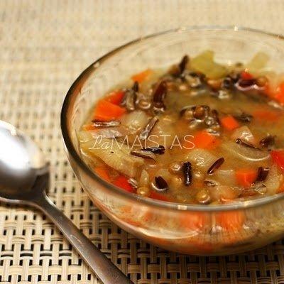 Ryžių ir lęšių sriuba