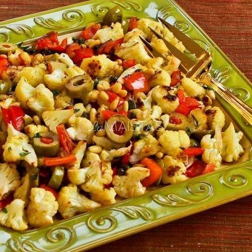 Žiedinių kopūstų ir paprikų salotos