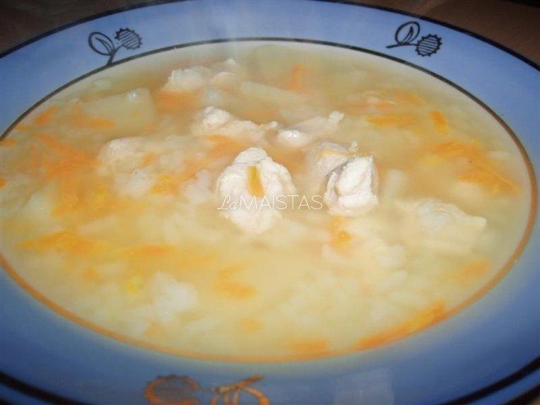Citrininė vištienos sriuba