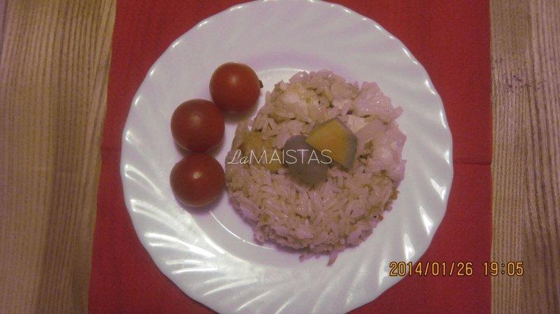 vištienos troškinys su ryžiais