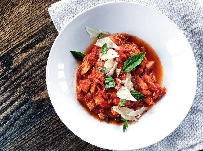 Pomidorinis vištienos troškinys