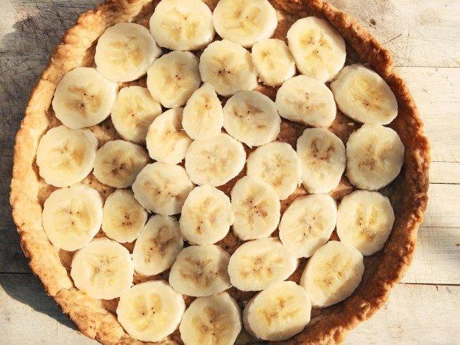 Morenginis bananų pyragas