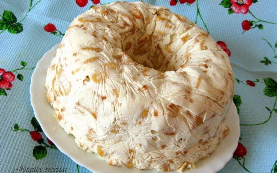 Greitasis grietininis krekerių tortas