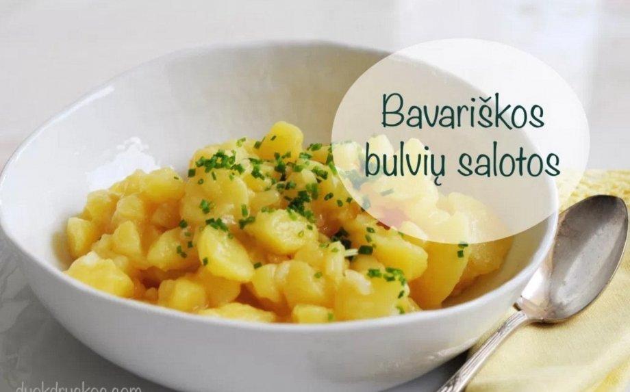 Sočios vokiškos bulvių salotos