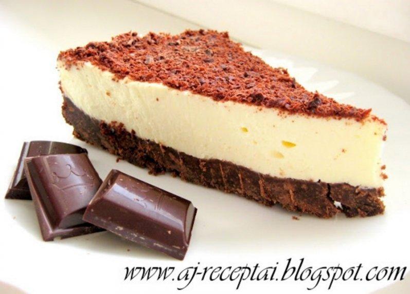 Nekeptas šokoladinis maskarponės sūrio tortas