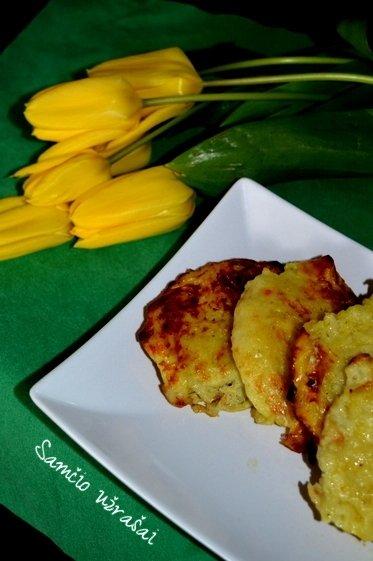 Orkaitėje kepti bulviniai blynai