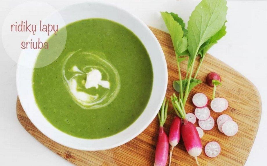 Trinta ridikėlių lapų ir bulvių sriuba