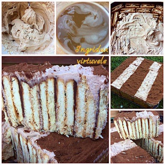 Greitas sausainių tortukas su kavos skonio maskarponės kremu