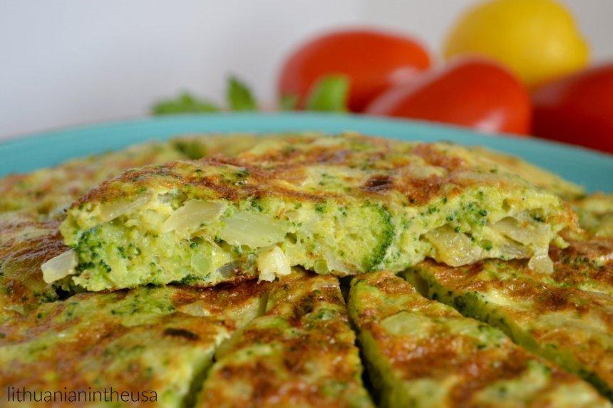 Brokolių tortilija