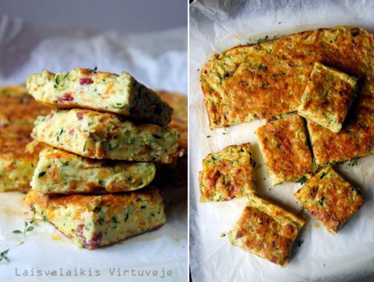 Cukinijų ir morkų apkepas su sūriu