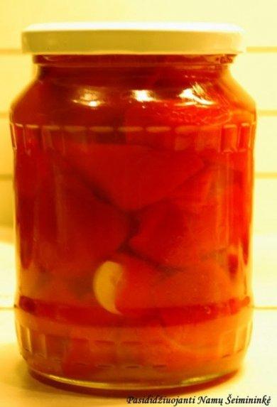 Saldžiarūgščiai marinuotos paprikos žiemai