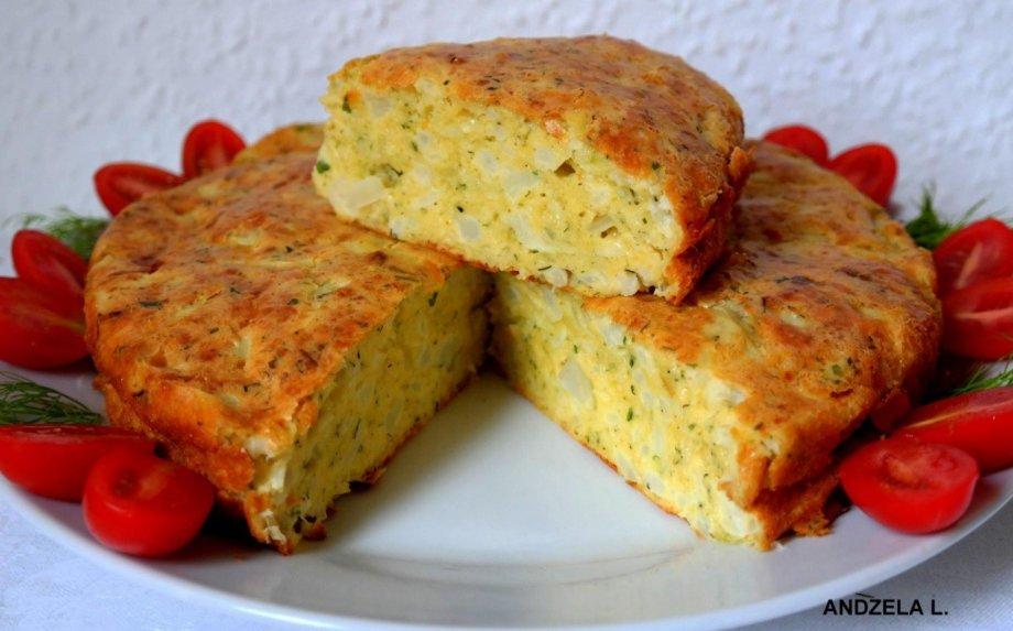 Kalafiorų pyragas su sūriu