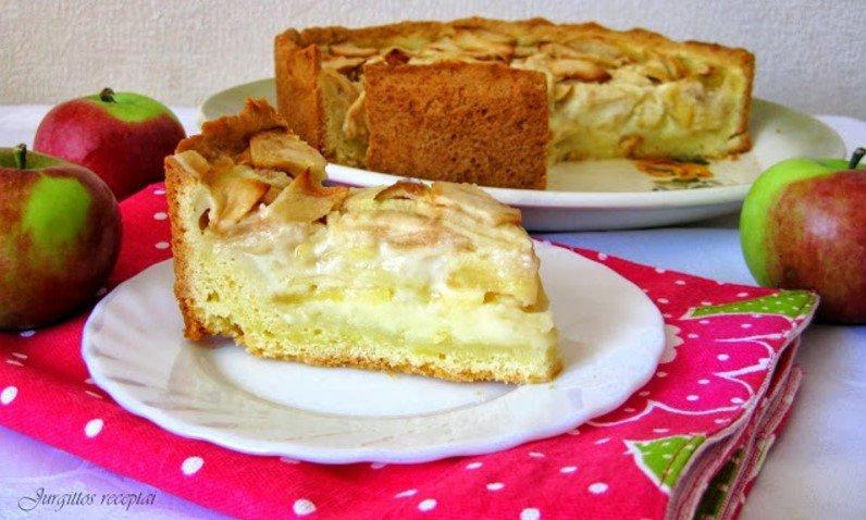 Grietininis cvetajevų obuolių pyragas