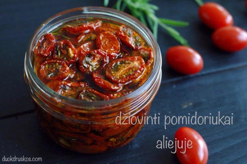Naminiai džiovinti pomidorai aliejuje