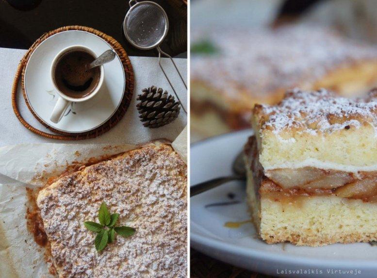 Prašmatnus obuolių pyragas - be galo geras!