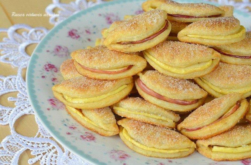 Minkštučiai varškiniai sausainukai su obuoliais