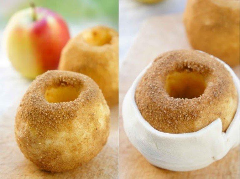 Įdaryti obuoliai su karvutės saldainiais