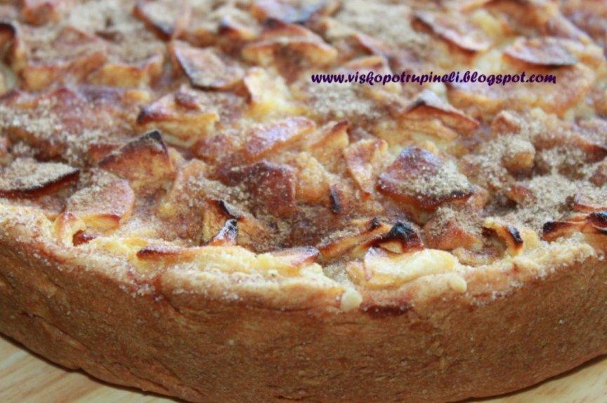Obuolių pyragas su grietininiu kremu Cvetajevskij (Cvetajevų)