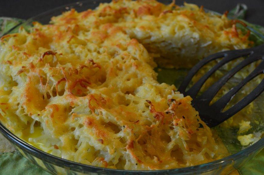 Sotus makaronų ir sūrio apkepas