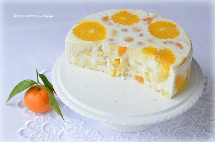 Jogurtinis tortas su apelsinais