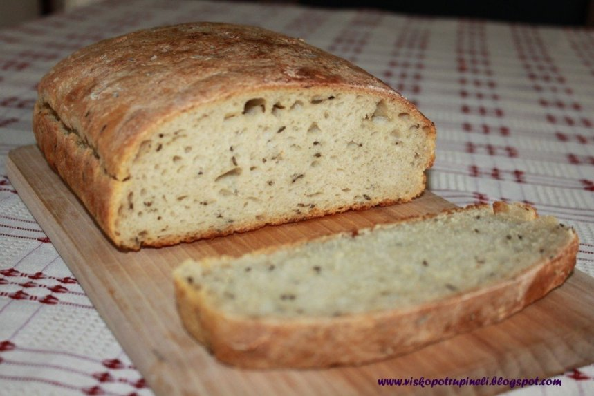 Plikyta kvietinė duona be mielių