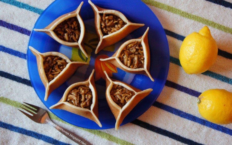 Arabiški blynai su varške ir obuoliais