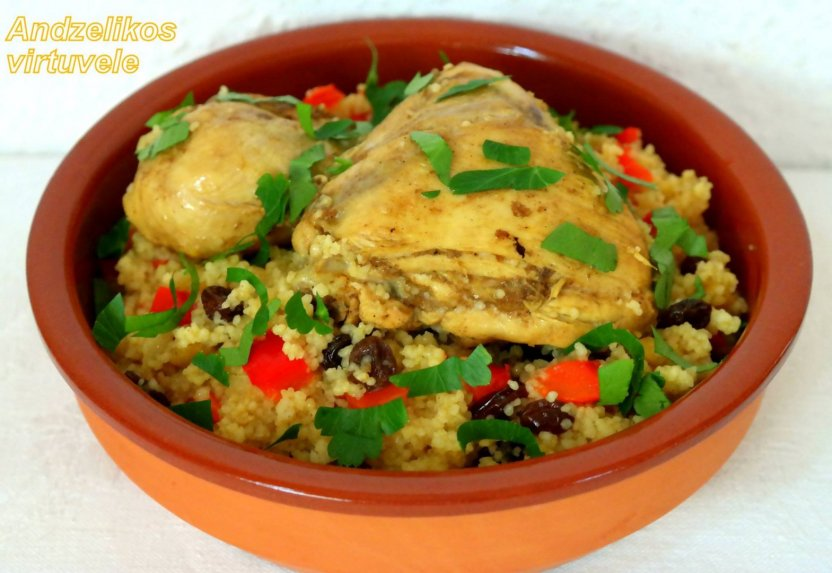 Marokietiška vištiena su kuskusu