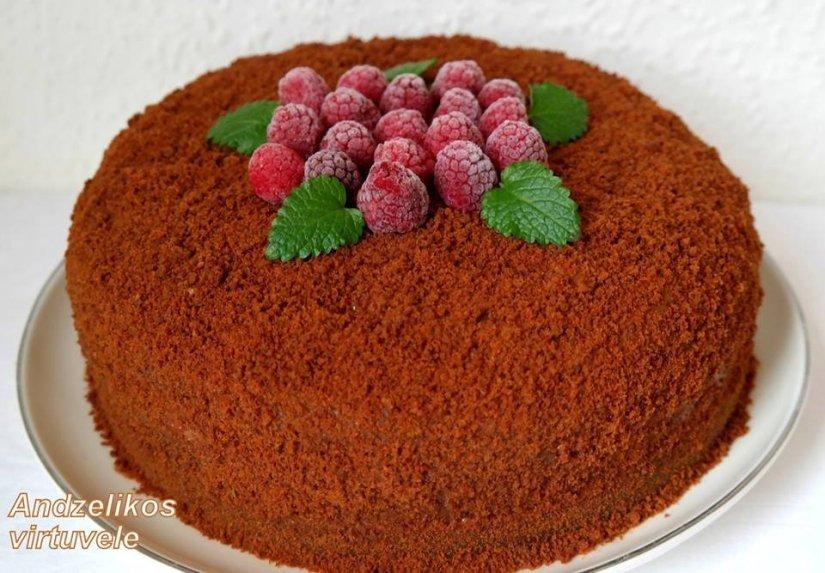 Šokoladinis tortas su kavos nata