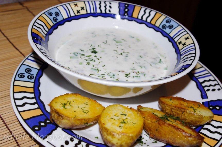 Šalta sriuba žemaitiškas šmakalas