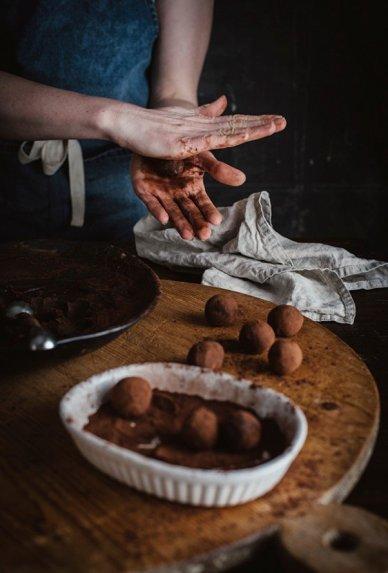 Šokoladiniai triufeliai su kanapių aliejumi