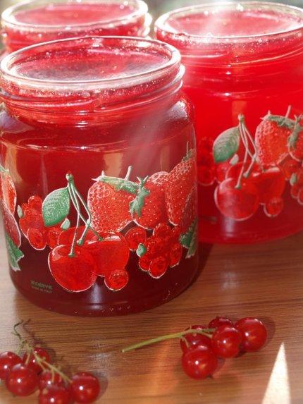 Raudonųjų serbentų džemas uogienė