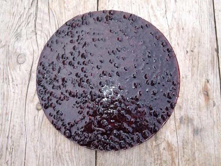 Gaivus varškės tortas su juodaisiais serbentais