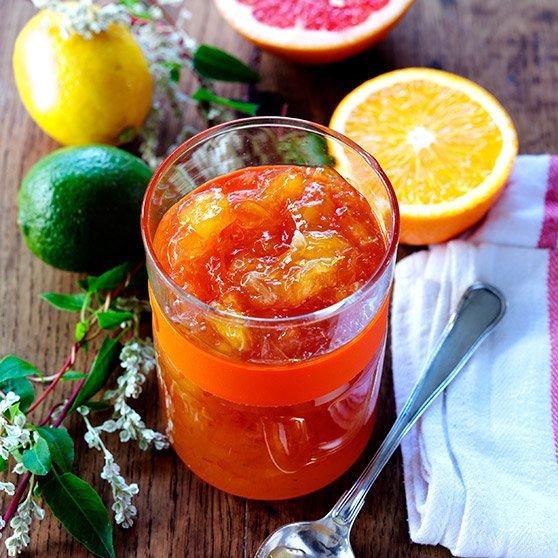 4 citrusinių vaisių marmeladas