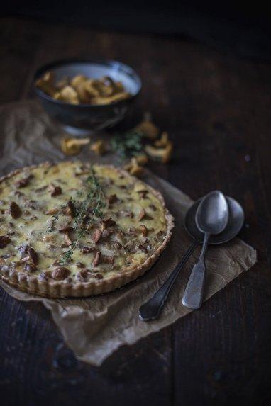 Voveraičių pyragas tarta su sūriu