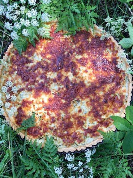 Cukinijų pyragas su varške ir sūriu