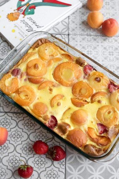 Prancūziškas vaisių desertas Flaugnarde