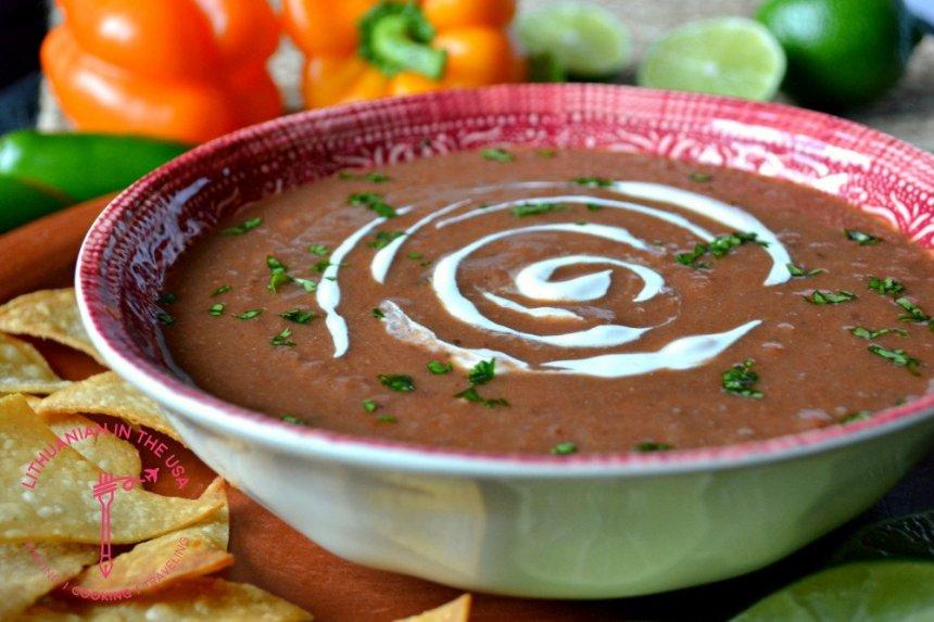 Trinta meksikietiška pupelių sriuba