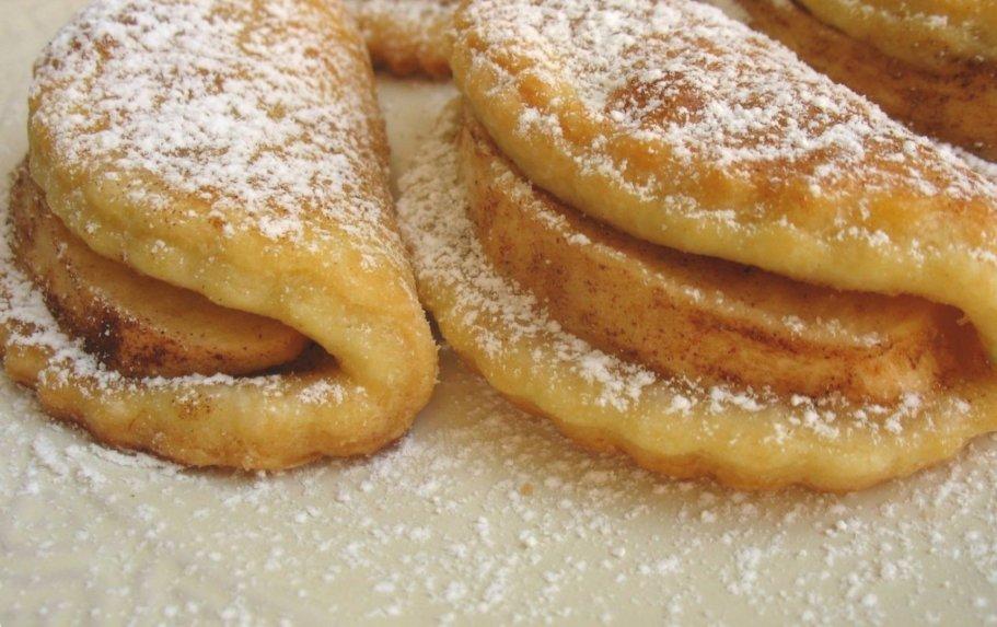 Maskarponės sausainiai skarelės su obuolais