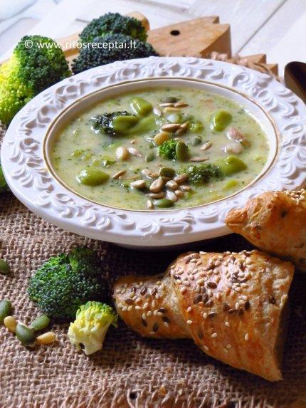 Brokolių ir sūrio sriuba su grikiais