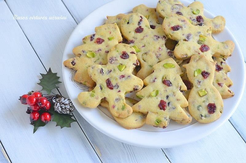Kalėdiniai sausainiai be kiaušinių