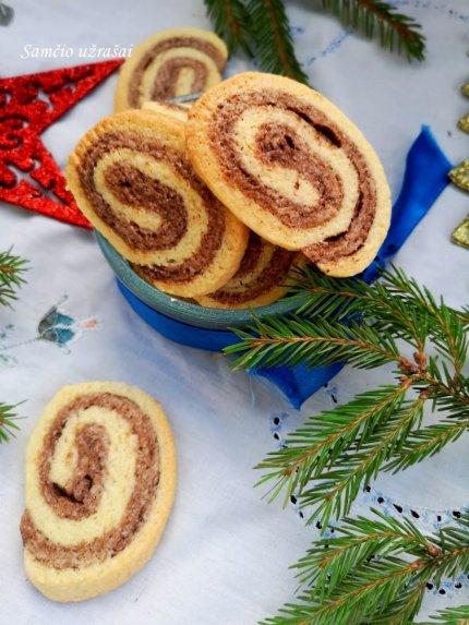 Greiti sviestiniai dviejų skonių sausainiai