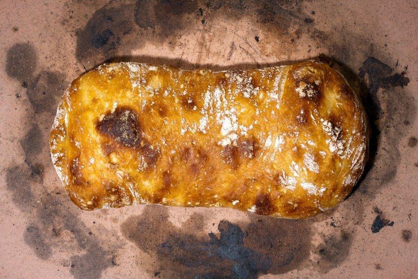 Naminė čiabata chiabatta duona duonelė